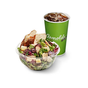 Salad & drink