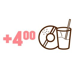 Suolaisen tuotteen ostajalle juoma & donitsi