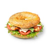 Chicken & Goat Cheese Bagel